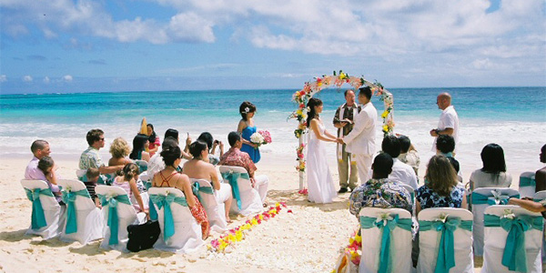 summer wedding beach