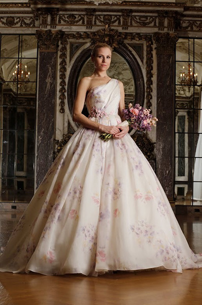 Colorful floral patterns - Romona Keveza Luxe Bridal Collection, Spring 2016